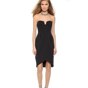 KEEPSAKE Divide Dress Black Silver Zip XXS LBD